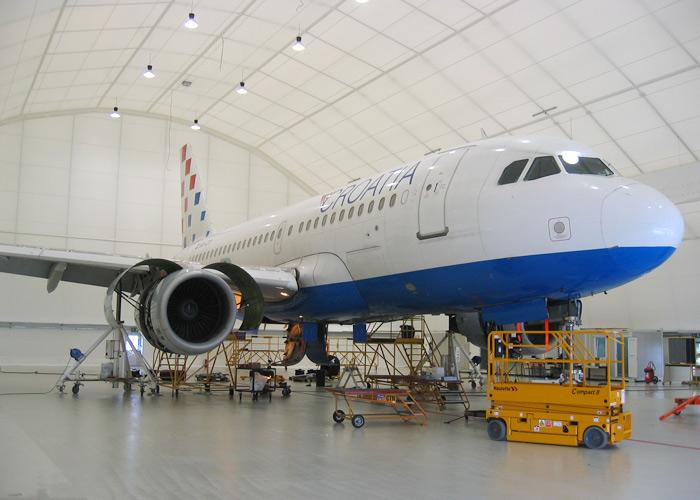 PVC-halli lentokonehalli